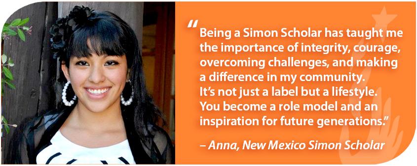 New Mexico Simon Scholar student testimonial